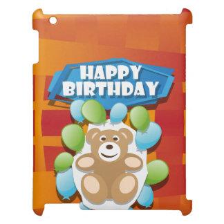 Étuis iPad Nounours de joyeux anniversaire d'illustration