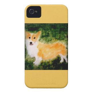 Étuis iPhone 4 Art mignon de chien de corgi