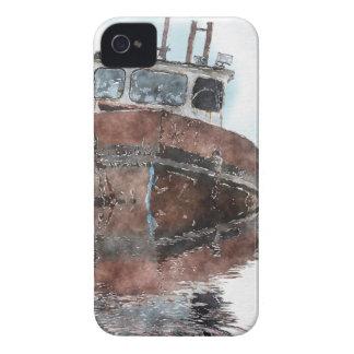 Étuis iPhone 4 Bateau-amants pêchant des séries pour aquarelle