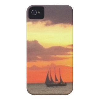 Étuis iPhone 4 Bateau de coucher du soleil