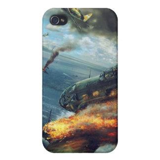 Étuis iPhone 4 Bombardier de la guerre mondiale 2 en flammes