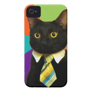 Étuis iPhone 4 chat d'affaires - chat noir