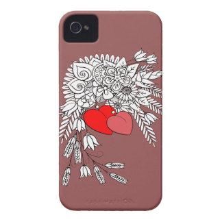 Étuis iPhone 4 Deux coeurs 2