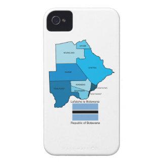 Étuis iPhone 4 Drapeau et carte du Botswana