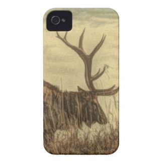 Étuis iPhone 4 élans rustiques de Taureau de faune de région