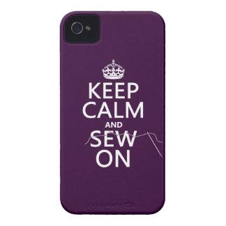 Étuis iPhone 4 Gardez le calme et cousez sur (dans toutes les