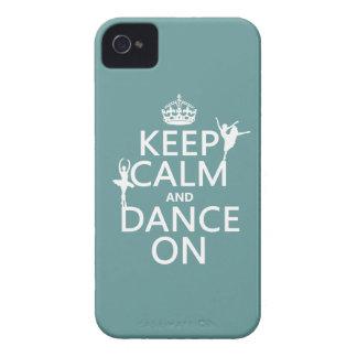 Étuis iPhone 4 Gardez le calme et dansez sur (ballet) (toutes les