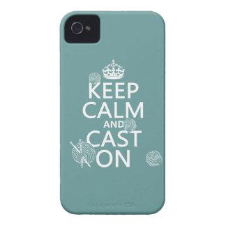 Étuis iPhone 4 Gardez le calme et moulez dessus - toutes les