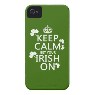 Étuis iPhone 4 Gardez le calme et obtenez votre irlandais sur