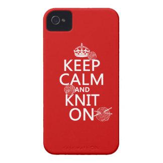 Étuis iPhone 4 Gardez le calme et tricotez dessus - toutes les