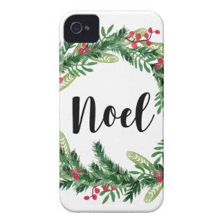 Étuis iPhone 4 Guirlande d'aquarelle de Noël