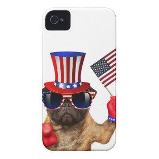 Étuis iPhone 4 Je vous veux, carlin, chien d'Oncle Sam,