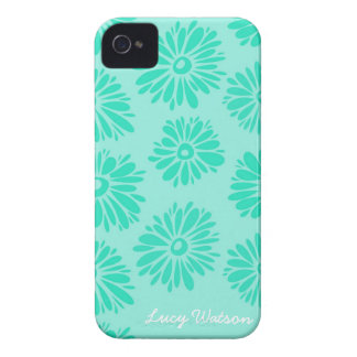 Étuis iPhone 4 La turquoise fleurit la caisse de l'iPhone 4/4S
