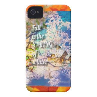 Étuis iPhone 4 Le ressort des débuts d'hiver dans l'automne
