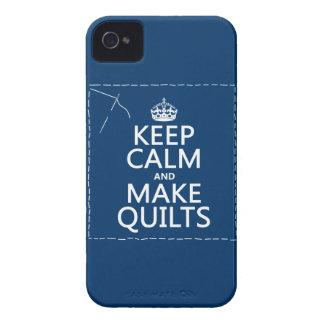 Étuis iPhone 4 Maintenez calme et faites les édredons (toutes les