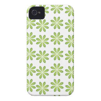 Étuis iPhone 4 Motif de fleur vert frais de ressort