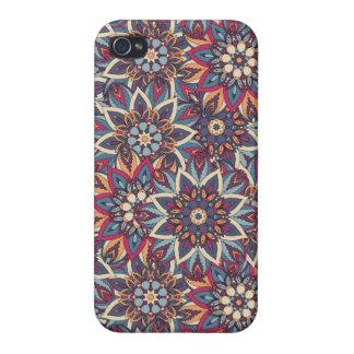 Étuis iPhone 4 Motif floral ethnique abstrait coloré de mandala
