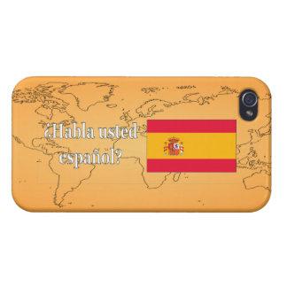 Étuis iPhone 4 Parlez-vous espagnol ? dans l'Espagnol. Wf de