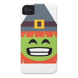 Étuis iPhone 4 sorcière tout l'Emoji Halloween