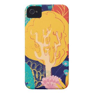 Étuis iPhone 4 yellow tree