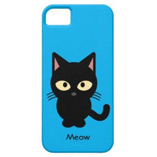 Étuis iPhone 5 Bande dessinée mignonne de meow de chat noir