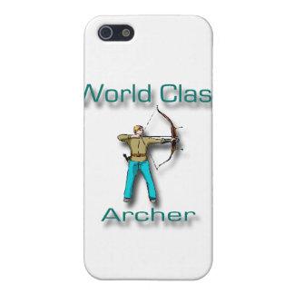 Étuis iPhone 5 Bleu d'Archer de classe du monde