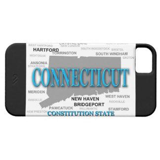 Étuis iPhone 5 Carte d'état du Connecticut, Hartford, New Haven
