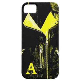 Étuis iPhone 5 Cas de l'iPhone 5 de monogramme de jaune de veste