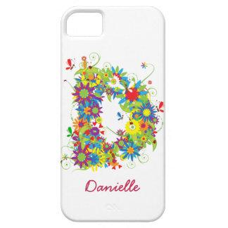 Étuis iPhone 5 Cas floral de Coque-Compagnon de l'iPhone 5 du