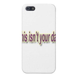 Étuis iPhone 5 Ce n'est pas votre pourpre de jour