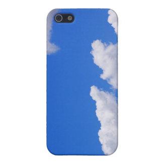 Étuis iPhone 5 Ciel bleu avec des nuages pour l'arrière - plan