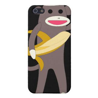 Étuis iPhone 5 Cognez le singe avec le cas d'IPhone 4/4S d'épées
