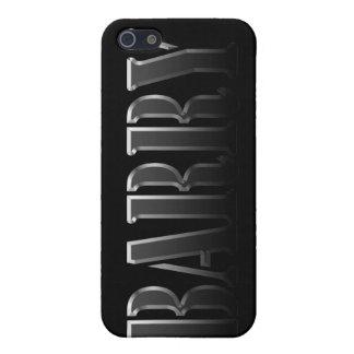 Étuis iPhone 5 Couverture d'iPhone marquée par nom de BARRY