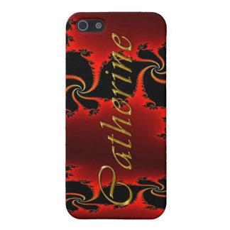 Étuis iPhone 5 Couverture d'iPhone marquée par nom de CATHERINE