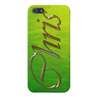 Étuis iPhone 5 Couverture d'iPhone marquée par nom de CHRIS