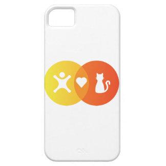Étuis iPhone 5 Diagramme de Venn de chats de coeur de personnes