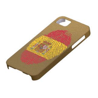 Étuis iPhone 5 Drapeau d'empreinte digitale de contact d'Espagnol