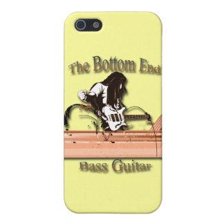 Étuis iPhone 5 Guitare basse le brun de fin inférieure