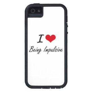 Étuis iPhone 5 J'aime être conception artistique impulsive