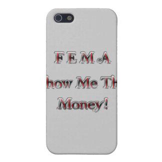 Étuis iPhone 5 La FEMA me montrent l'argent ! rouge de chrome