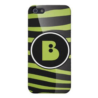 Étuis iPhone 5 Lettre B i de monogramme de zèbre