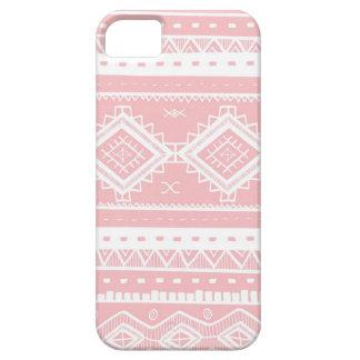 Étuis iPhone 5 Motif aztèque tribal de dentelle (roses pâles)