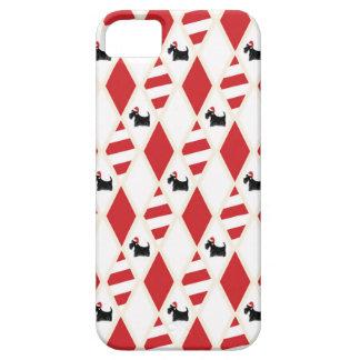 Étuis iPhone 5 Motif de Noël de chien de Scottie
