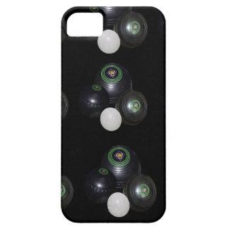 Étuis iPhone 5 Motif noir et blanc de cuvettes de pelouse,