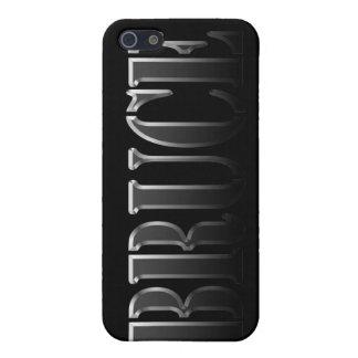 Étuis iPhone 5 Nom de BRUCE marqué