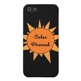 Étuis iPhone 5 Peau actionnée solaire de cellules de point de cas