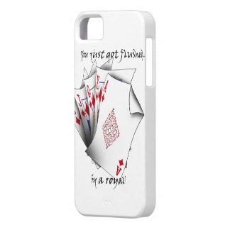 Étuis iPhone 5 Quinte royale des diamants - blanc