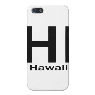 Étuis iPhone 5 SALUT noir simple d'Hawaï