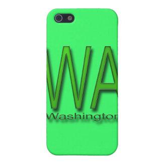 Étuis iPhone 5 Vert de WA Washington