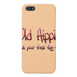 Étuis iPhone 5 Vieux rouge hippie